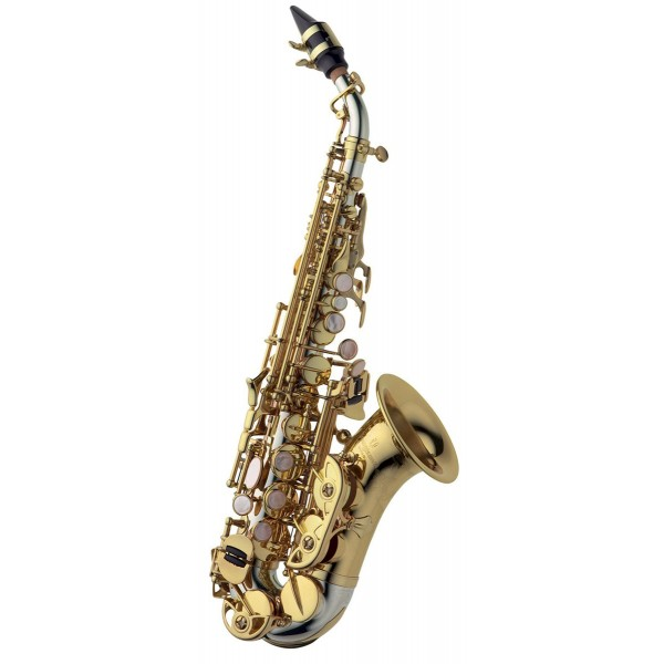Soprano Sax Curved - Solid Silver & Brass