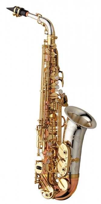 Alto Sax - Solid Silver Bell & Neck - Bronze Body & Bow