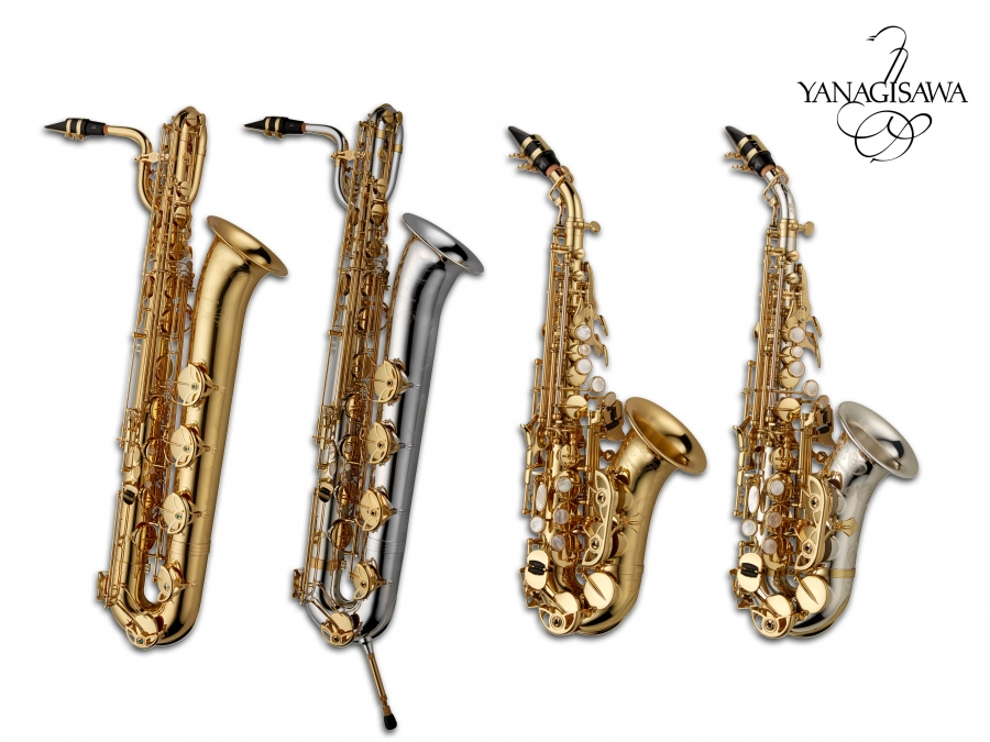 New WO Series Baritone and Curved Soprano saxophones.